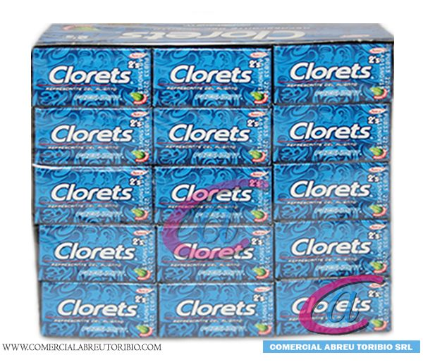 CHICLETS CLORETS FRESH MINT AZUL 32/60/2