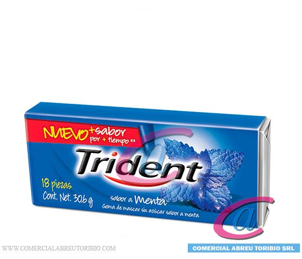 CHICLETS TRIDENT 6'S MENTA 30/18
