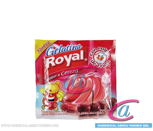 GELATINA ROYAL DE CEREZA 48/3 OZ 40 GRS